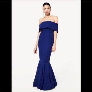 Fame and Partners Jennifer Gown Blue 8 NWT